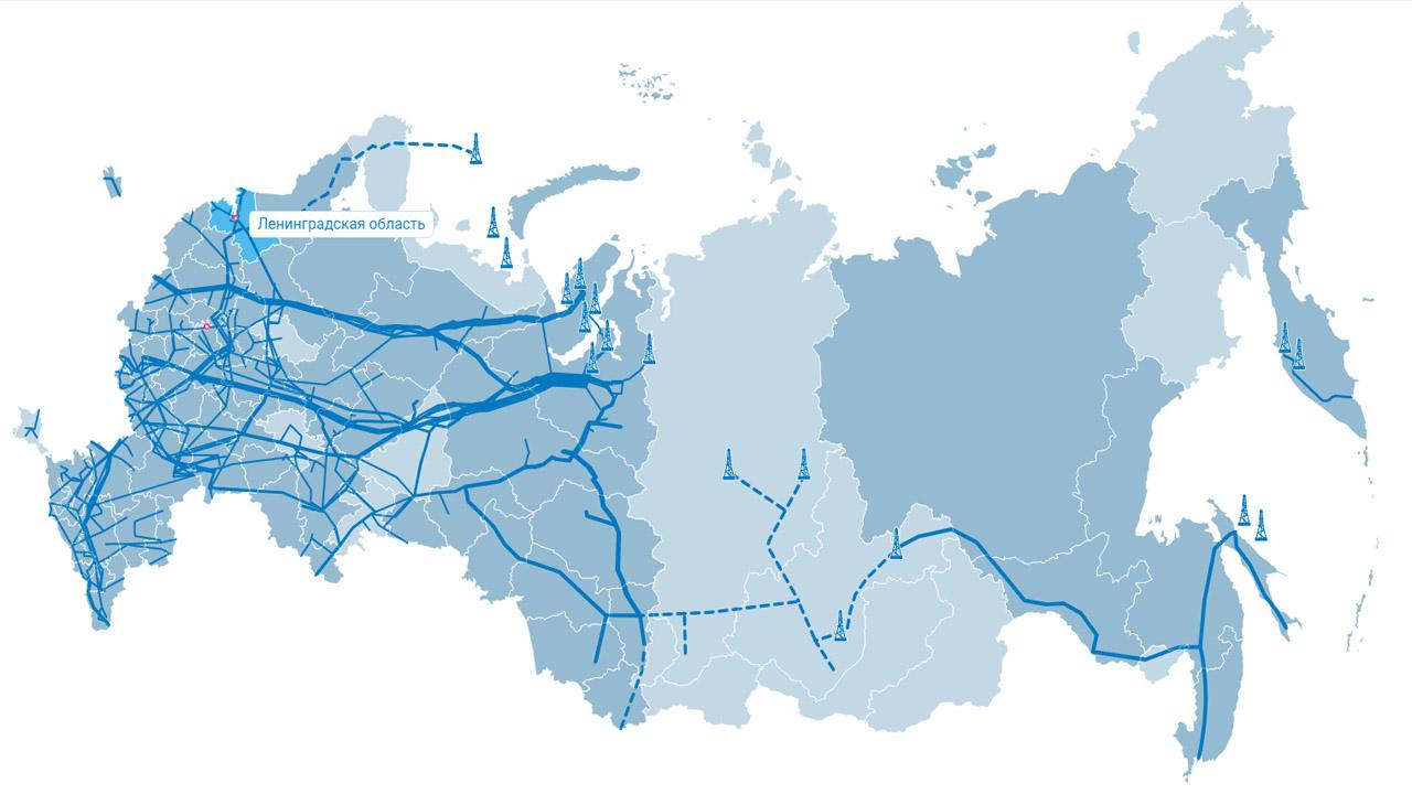 Интерактивная карта газификации